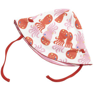 Octopus Stripe Reversible Baby Sun Hat - babies' hats