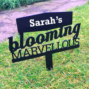 Personalised Blooming Marvellous Sign - art & decorations