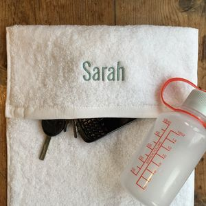 Personalised Gym Towel - bathroom