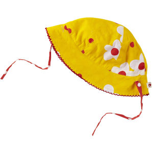 Yellow Daisy Reversible Baby Sun Hat - clothing