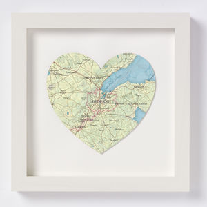 Belfast Map Heart Print