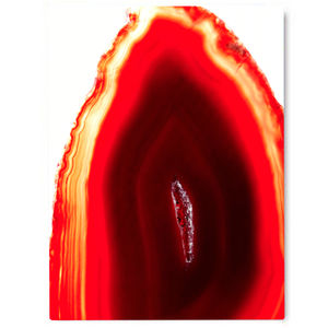 Burn, Red Abstract Canvas Art - modern & abstract