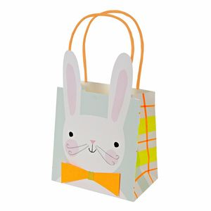 Eight Easter Bunny Party Bags - ribbon & wrap