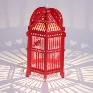 Lovebirds Birdcage Lantern - lanterns