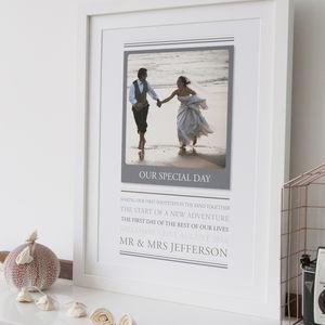 Polaroid Style Wedding Print