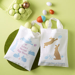 Personalised Easter Egg Hunt Bag - easter holiday outdoor play
