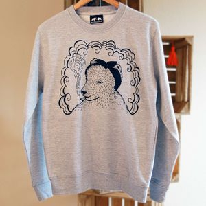 Bear And Headscarf Jumper - women's fashion