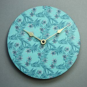 Bloom Of Flowers Wall Clock