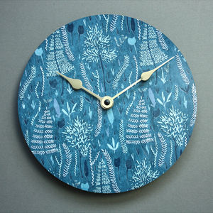 Midnight In The Woods Wall Clock - bedroom