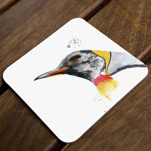 Inky Penguin Coasters