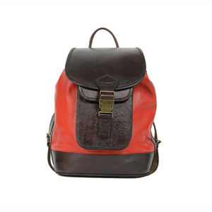 Mya Red Small Classic Leather Backpack