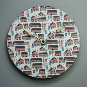 The Little Village Wall Clock - clocks