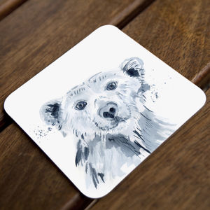 Inky Polar Bear Coasters