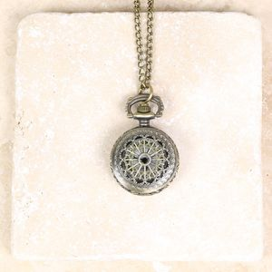Cut Out Patterned Watch Necklace