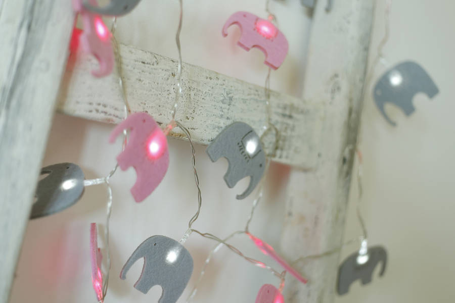 elegant elephant fairy lights by jomanda notonthehighstreet.com