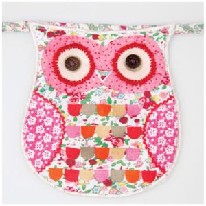 Owl Floral Fabric Bunting - bunting & garlands