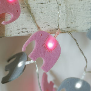Elegant Elephant Fairy Lights - occasional supplies