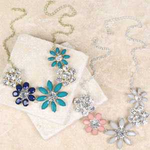 Statement Floral Necklace - statement jewellery