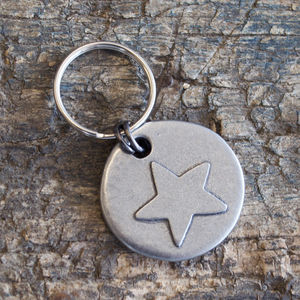 Star Motif Dog Tag