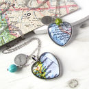 Personalised Location Map Heart Necklace