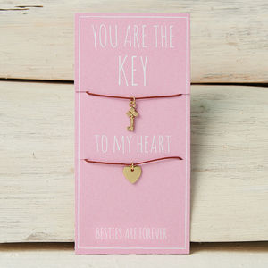 You Are The Key To My Heart Friendship Necklaces