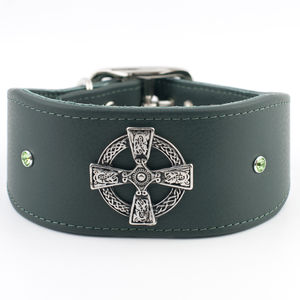 Celtic Cross Greyhound / Whippet Collar - dogs