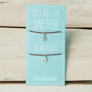 You Are The Anchor To My Boat Friendship Necklaces