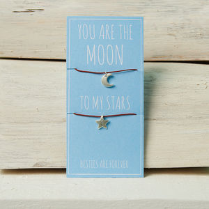 You Are The Moon To My Stars Friendship Necklaces