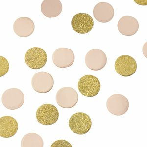 Pastel And Gold Table Confetti - outdoor living