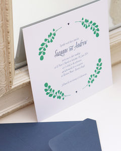 Garland 'On The Day' Wedding Stationery - new in wedding styling