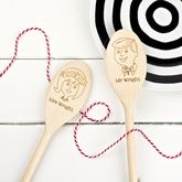 Pair Of Bride And Groom Wooden Spoons - anniversary gifts