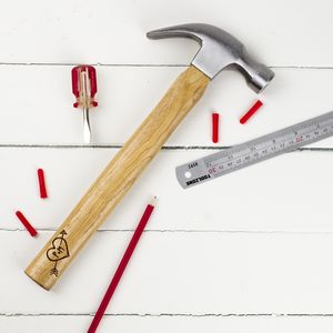 Personalised Hammer With Love Heart - tools & equipment
