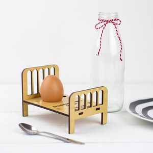 Personalised Breakfast In Bed Egg Cup - lazy day