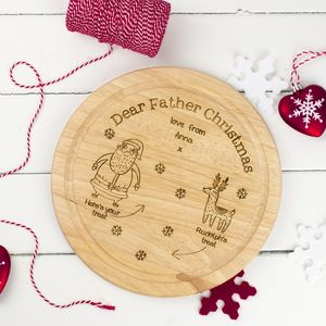 Personalised Father Christmas Treat Plate