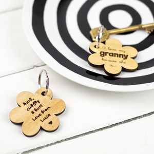 Personalised 'I Love My Mum Because' Keyring - token gifts