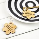 Personalised 'I Love My Mum Because' Keyring