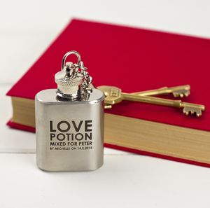 The Mini Personalised Hip Flask Of Love - hip flasks