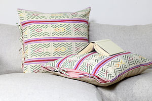 Azteca Tie Cushion - patterned cushions