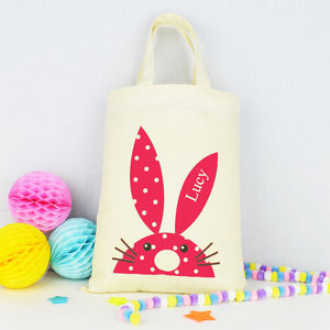 Personalised Rabbit Gift Bag - easter egg hunt