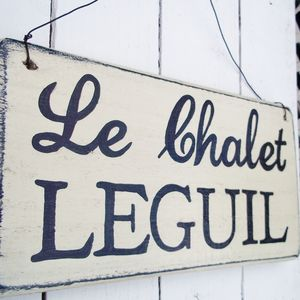 Personalised 'Rustic' Wooden House Sign