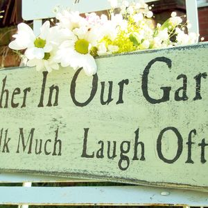 Personalised Vintage Style Wooden Garden Sign