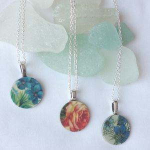 Floral Sixpence Necklace