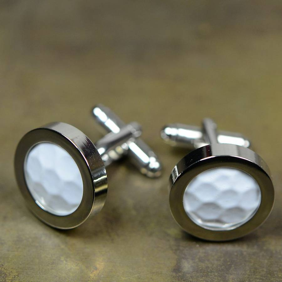 Golf ball silver plated cufflinks by bobby rocks for Golf buflings