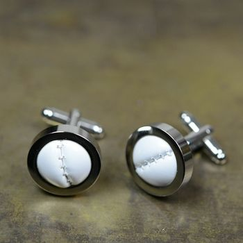Football/Rugby Silver Plated Cufflinks