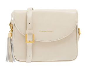 Daisy Cream Leather Handbag