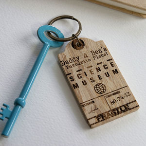 Favourite Place Luggage Tag Key Ring - keyrings