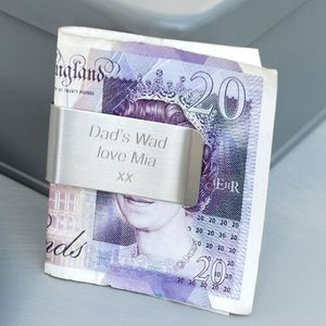 Personalised Money Clip - wallets & money clips