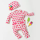 Fruit Print Applique Playsuit And Hat Set Was £30