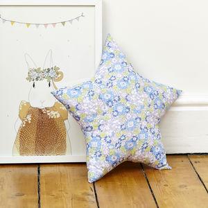 Isa Blue Liberty Star Cushion