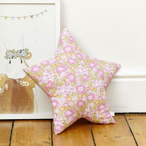 Isa Pink Liberty Star Cushion - children's cushions